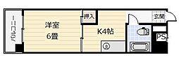 KIビル三萩野[703号室]の間取り