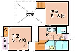 クレオ吉塚七番館[2階]の間取り