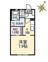 広島県広島市南区向洋中町の賃貸アパートの間取り