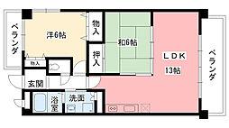 兵庫県西宮市西平町の賃貸マンションの間取り