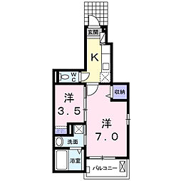 東京都江東区南砂5丁目の賃貸アパートの間取り