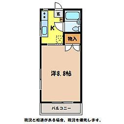 長野県伊那市中央の賃貸アパートの間取り