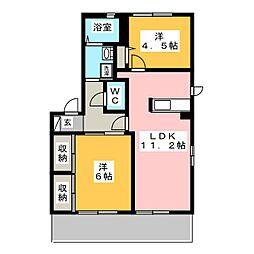 La Cour B[1階]の間取り