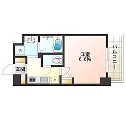 Osaka Metro御堂筋線 昭和町駅 徒歩9分の賃貸マンション 9階1Kの間取り