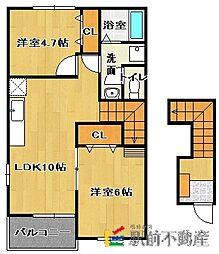 ラフィーネA棟[2階]の間取り