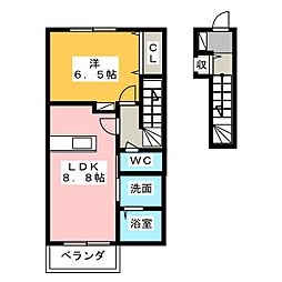 NOBLE[2階]の間取り