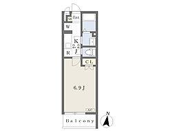 東葉高速鉄道 北習志野駅 徒歩7分の賃貸マンション 1階1Kの間取り