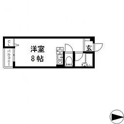 ピア小阪[302号室号室]の間取り