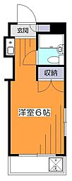 東京都小平市学園東町2丁目の賃貸マンションの間取り