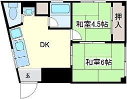 日野マンション[4階]の間取り