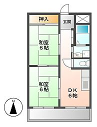 インターシティ黒川[6階]の間取り