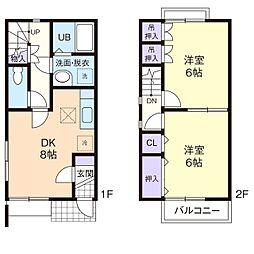 DUPLEX SHINZO I[2階]の間取り