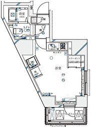 ル・リオン西新宿[303号室号室]の間取り
