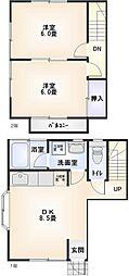 [テラスハウス] 神奈川県小田原市矢作 の賃貸【/】の間取り