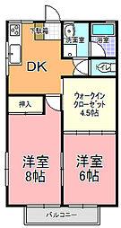 グリーンハウス永田[203号室]の間取り