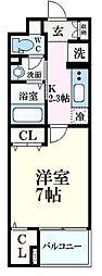 JR山陽本線 広島駅 徒歩14分の賃貸マンション 4階1Kの間取り