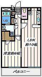 東京都葛飾区高砂1丁目の賃貸マンションの間取り