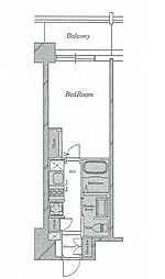 ブリリアント大阪西[2階]の間取り