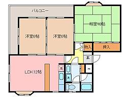 徳川台ロイヤルマンション[2階]の間取り