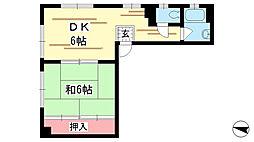 兵庫県神戸市中央区熊内町6丁目の賃貸マンションの間取り