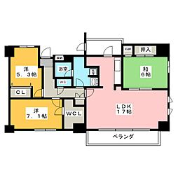 栄シティハウス 1202号[12階]の間取り