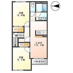 プランドールK[2階]の間取り