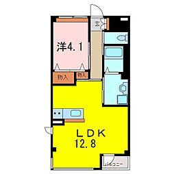 仮)S・M様賃貸マンション新築[2階]の間取り