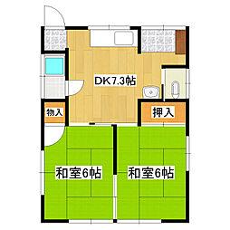[一戸建] 静岡県三島市若松町 の賃貸【静岡県 / 三島市】の間取り