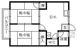 シティハイムマウンテン[2階]の間取り