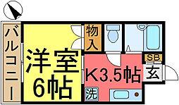 東京都江東区古石場2丁目の賃貸マンションの間取り