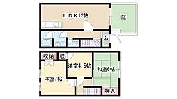 [テラスハウス] 愛知県名古屋市緑区神沢1丁目 の賃貸【/】の間取り