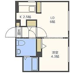 タカライーストヒルズ[4階]の間取り