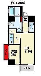 Studie KOKURA  NORTH[610号室]の間取り