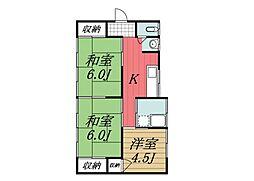 [一戸建] 千葉県四街道市大日 の賃貸【/】の間取り