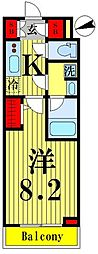 東武伊勢崎線 鐘ヶ淵駅 徒歩6分の賃貸マンション 4階1Kの間取り