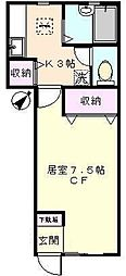 ラフィーネ坂下[1階]の間取り