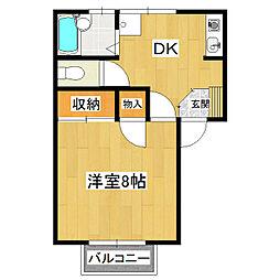 桂コーポWEST[1階]の間取り