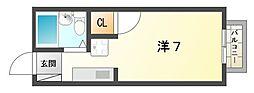 ハイツヴィラ[1階]の間取り