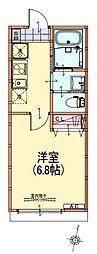 西武池袋線 秋津駅 徒歩5分の賃貸アパート 1階1Kの間取り