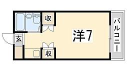 花影中村コーポ[603号室]の間取り