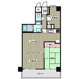 フローレンスパレス本厚木[4階]の間取り