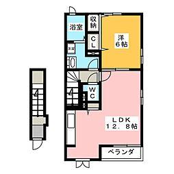 群馬県高崎市東貝沢町3の賃貸アパートの間取り