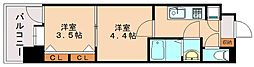 ラフィネス博多駅南[4階]の間取り