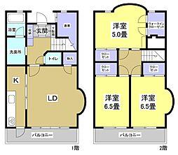 [テラスハウス] 静岡県浜松市中区上島1丁目 の賃貸【/】の間取り