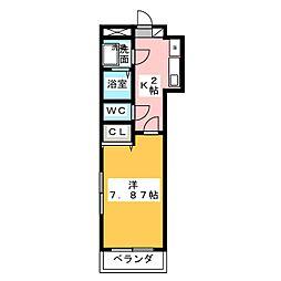プリミエールスギハラ[2階]の間取り