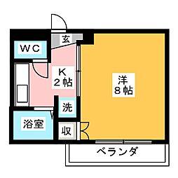 NESPALD春岡[2階]の間取り