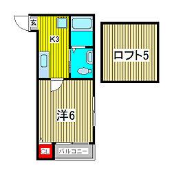 コンパートメントハウス鳩ヶ谷II[2階]の間取り