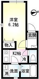 アルバ横須賀II[206号室]の間取り