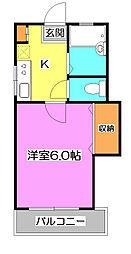 ソネット松山[1階]の間取り