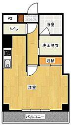サフィールナハビルディング 9階1Kの間取り
